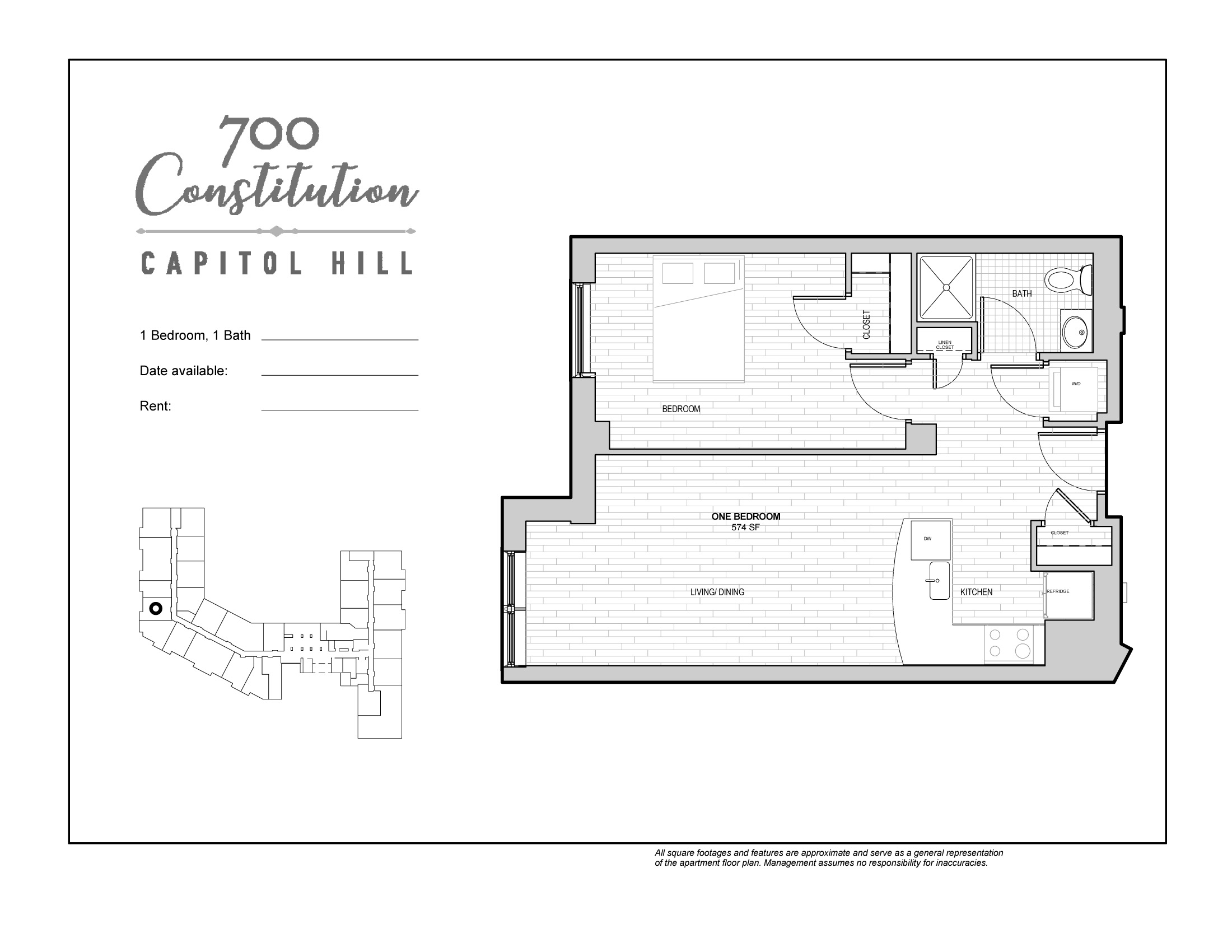 100 floor plans for flats 1 bed 1 bath apartment in for Floor plans jackson ms